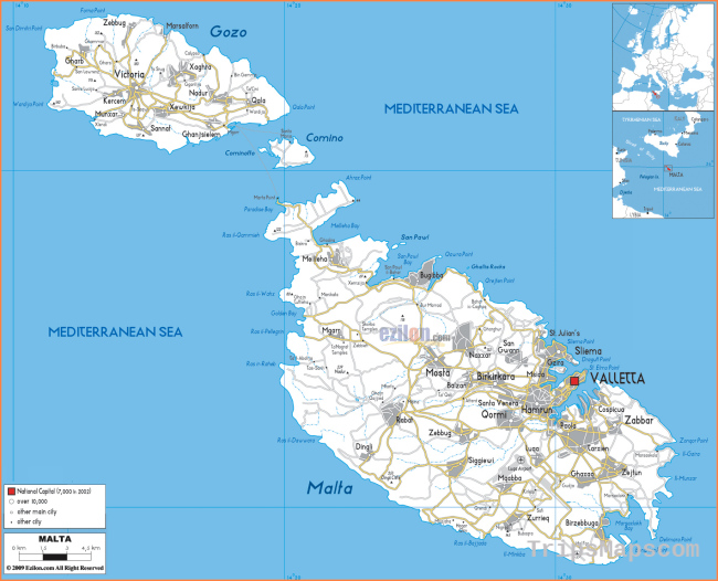 Maps of Malta | Detailed map of Malta in English