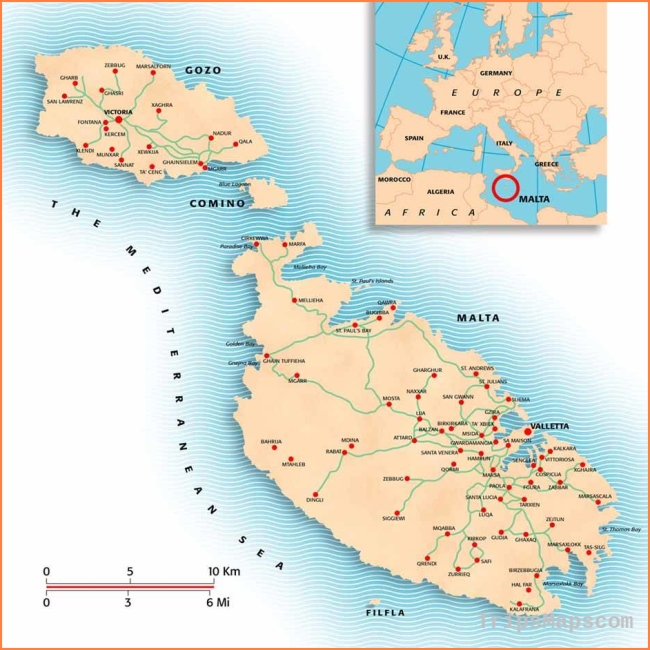 Large Malta Island Maps for Free Download and Print