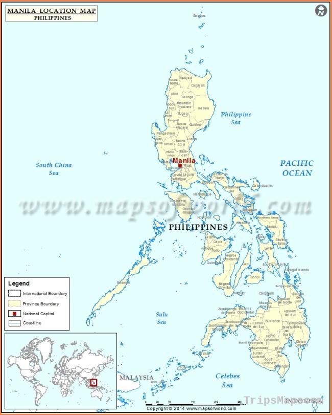 Map Of Manila Philippines Where Is Manila Philippines Manila