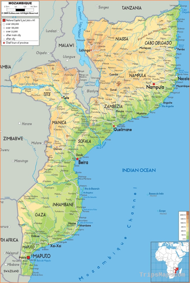 Map Of Mozambique * Travel on the Wild Side