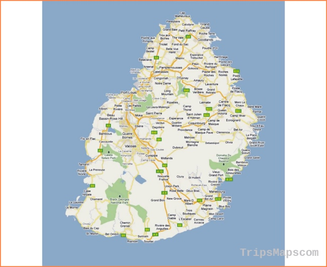 Maps of Mauritius | Collection of maps of Mauritius