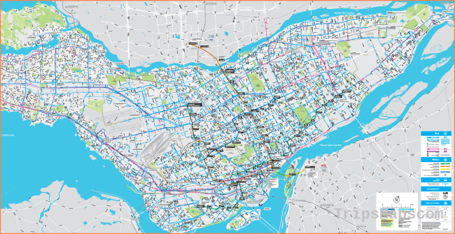 Montreal Public Transportation Network Map - Go! Montreal Tourism Guide