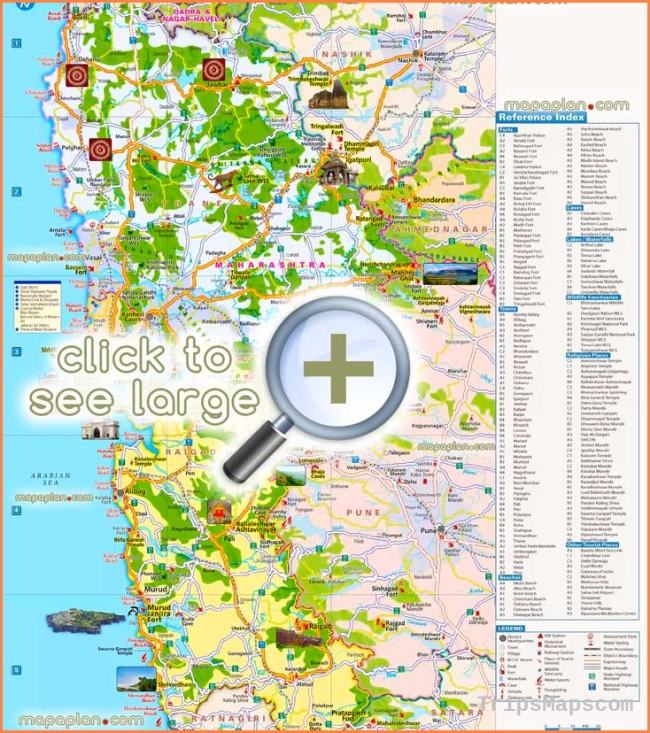 Mumbai maps - Top tourist attractions