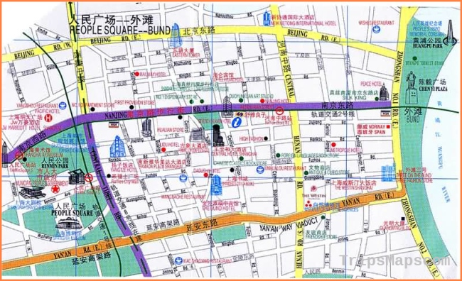 Map of Shanghai Nanjing Road, Nanjing Road Tourist Maps
