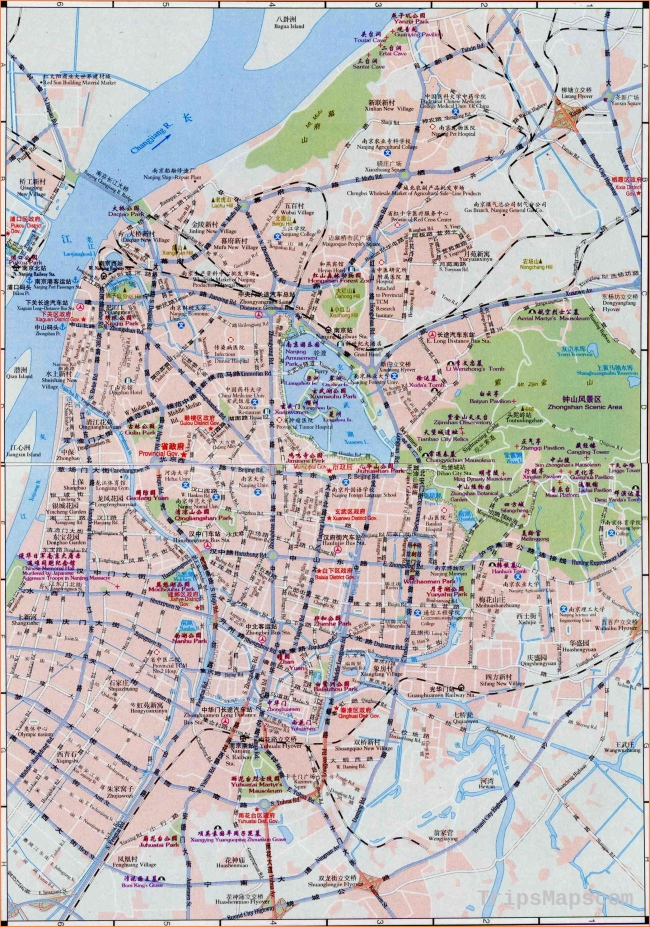 Nanjing China Map - Maps of Nanjing