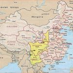 Map of China and Shanghai, Beijing and other Chinese cities