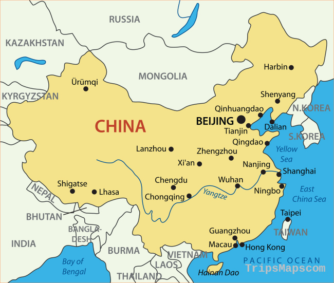 China Map - Guide of the World