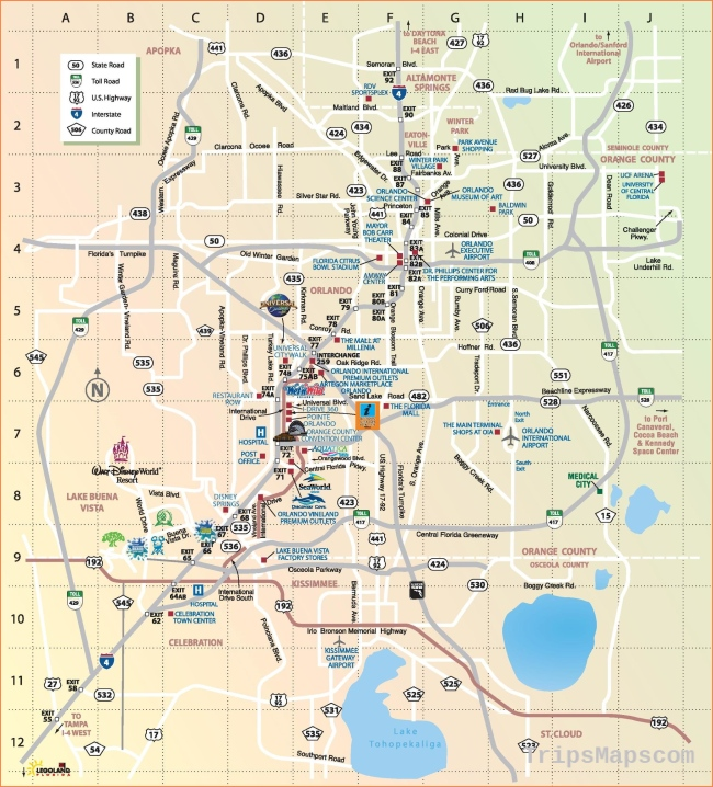 Orlando map - Maps Orlando (Florida - USA)