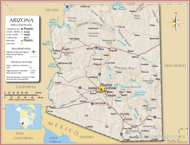 Large Arizona Maps for Free Download and Print | High-Resolution and
