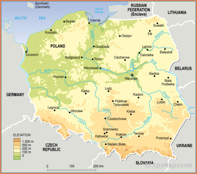 Maps of Poland | Detailed map of Poland in English | Tourist map of