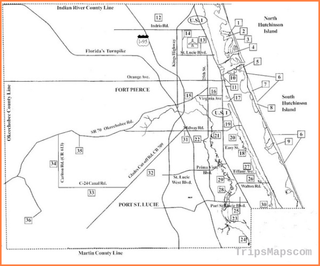 Birdwatching Areas in St Lucie County Florida Map