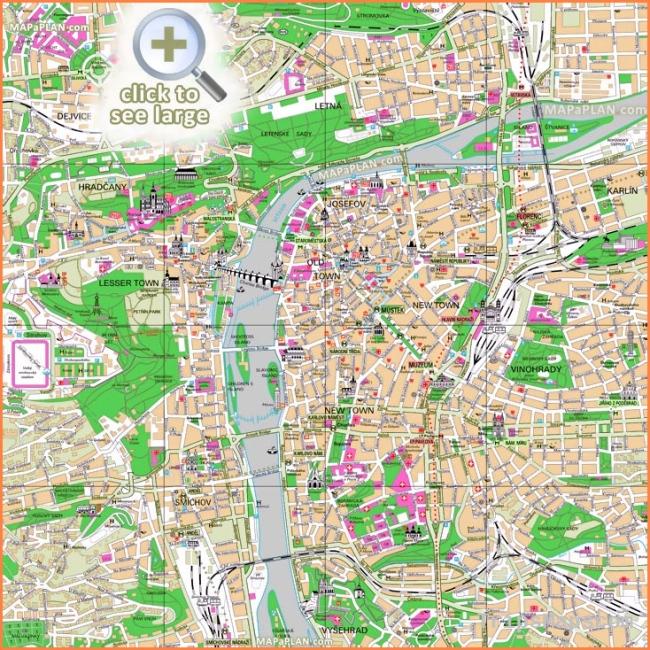 Map of Prague Czech Republic | Where is Prague Czech ...
