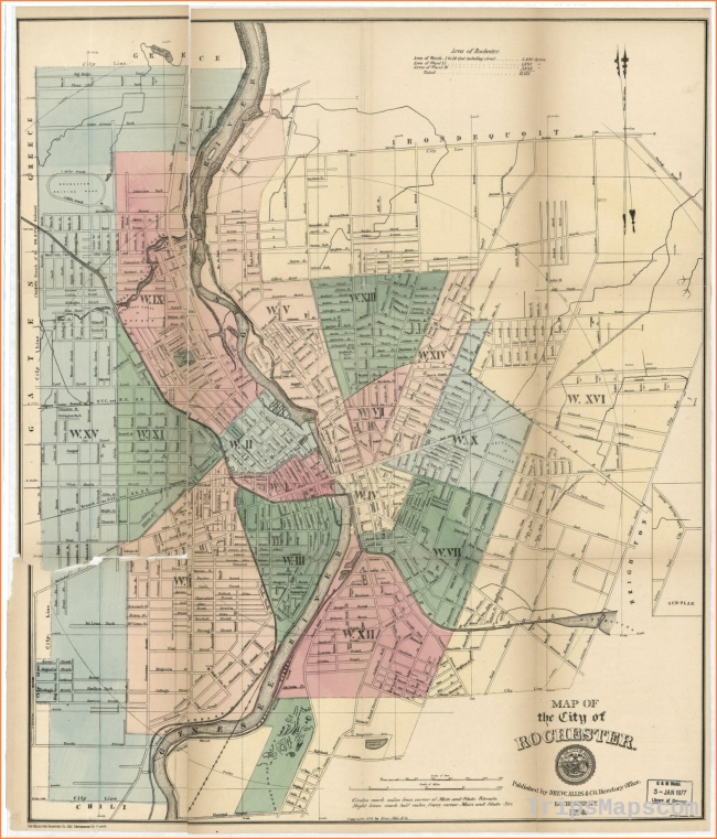Map of the city of Rochester | Library of Congress