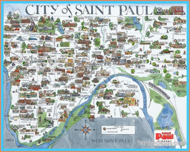 awesome Map of Minneapolis/St. Paul | Minne-snow-da