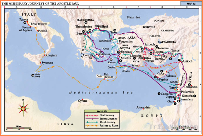 Bible Maps: The Missionary Journeys of the Apostle Paul