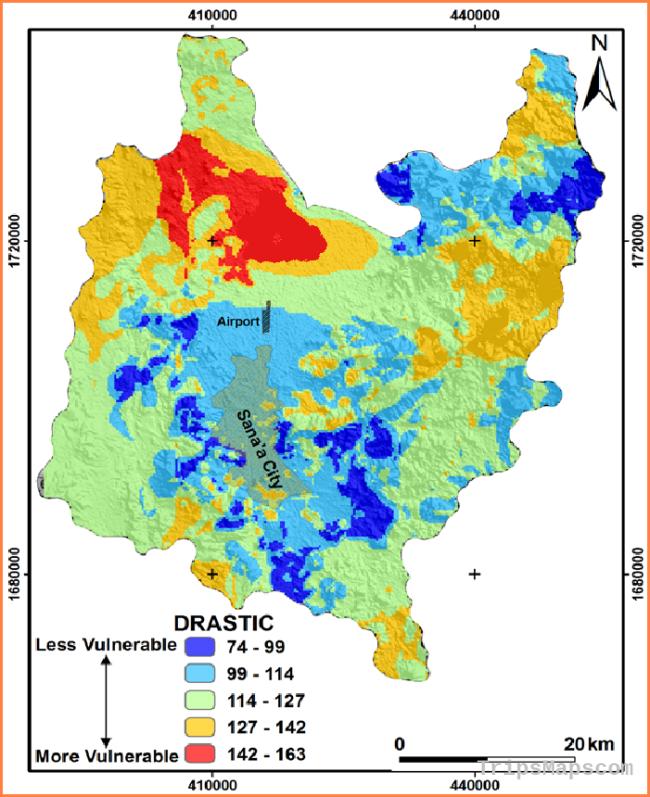 Vulnerability map of Sana'a basin