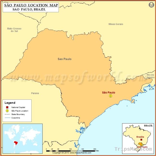 Where is Sao Paulo   Location of Sao Paulo in Brazil Map