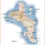 Mahe Island map - showing beaches, roads and beach lodges