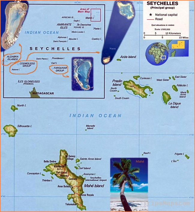 Seychelles Maps | Printable Maps of Seychelles for Download