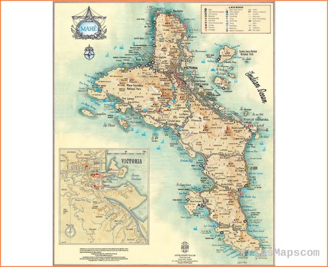 Maps of Seychelles | Collection of maps of Seychelles