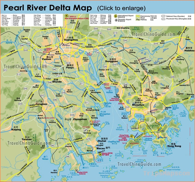 Guangdong Maps: City, Attraction, River