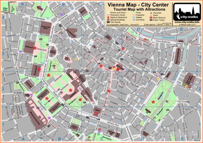 Printable Map of Vienna