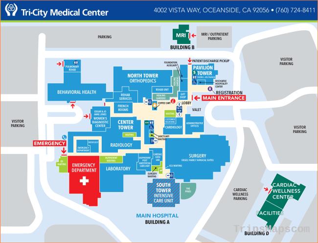 Campus Maps & Locations | Tri-City Medical Center