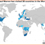 Paul Warren's Travel Map