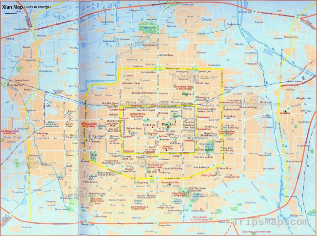 Xi'an Maps: City Layout, Downloadable Tourist Map with Attractions