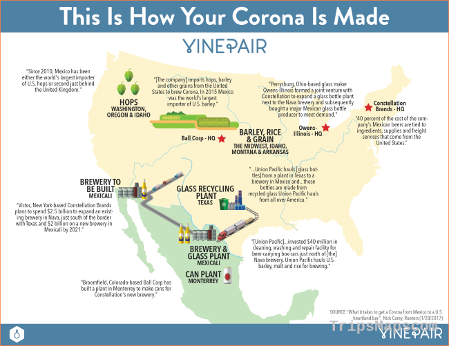 MAP: This Is How Your Corona Is Made