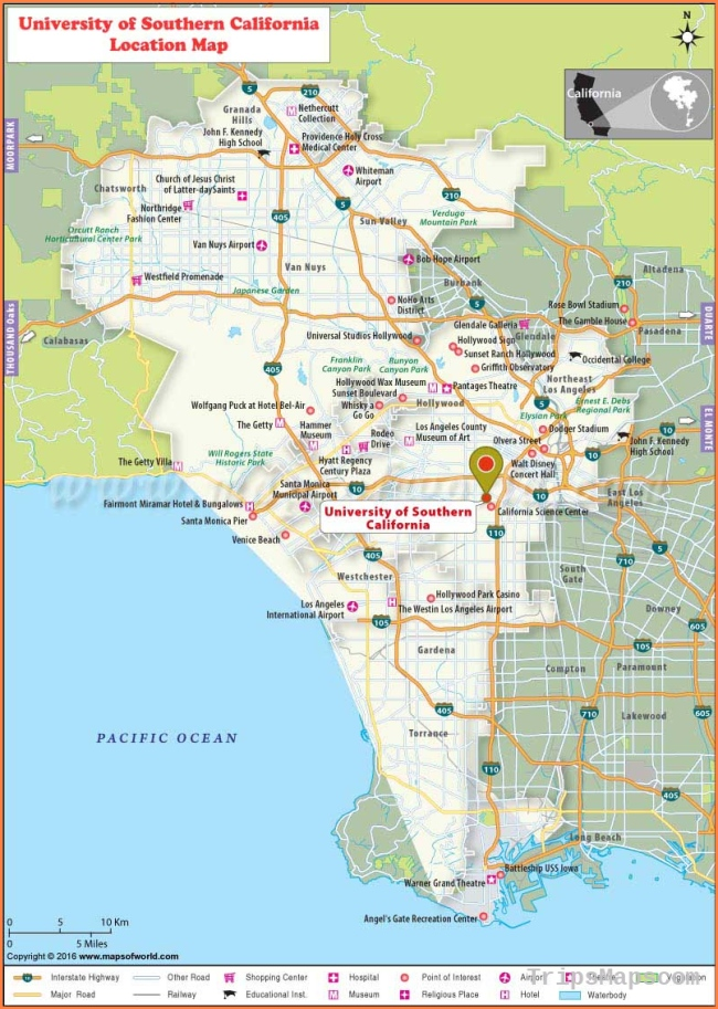 University of Southern California (USC), Los Angeles: Where is ...