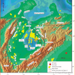 Oil fields, oil seeps, and major faults of the Maracaibo Basin. Most
