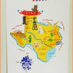 Texas illustrated map 8x10 by helloniccoco | art | Pinterest