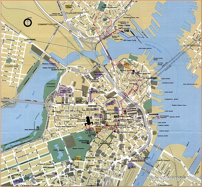 Large Boston Maps for Free Download and Print