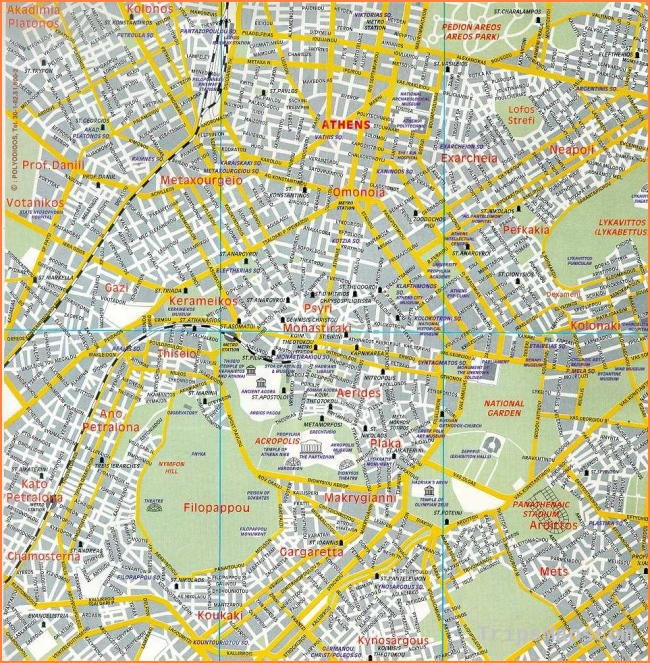 Map Of Athens Where Is Athens Athens Map English Athens