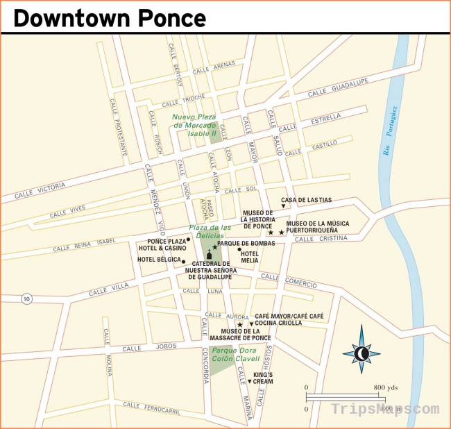 Large Ponce Maps for Free Download and Print