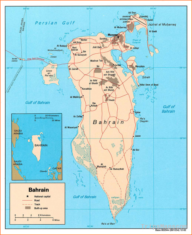 Maps of Bahrain | Detailed map of Bahrain in English