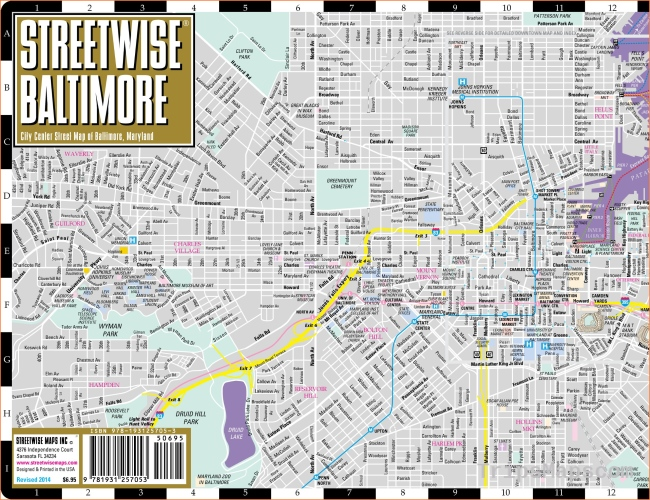 Large Baltimore Maps for Free Download and Print