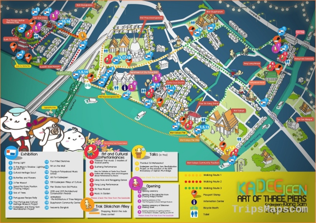 Tourist Attractions of Thailand | Map tourtist | Pinterest | Map