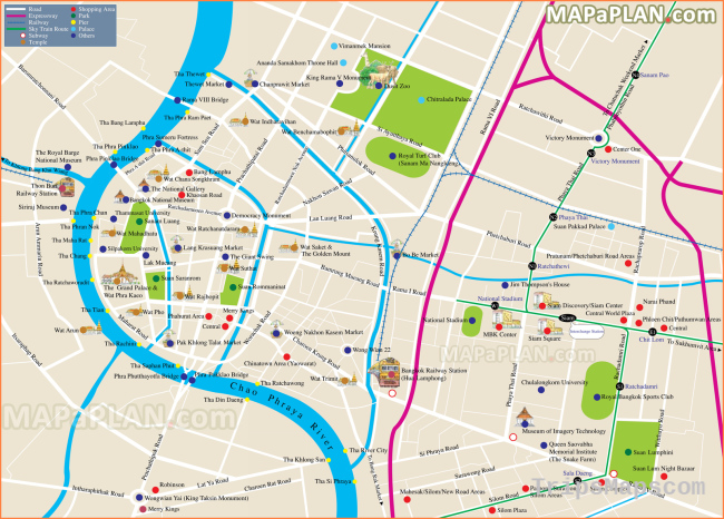 Map of Bangkok Thailand - Where is Bangkok Thailand ...