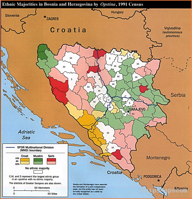 Bosnia Maps - Perry-Castañeda Map Collection