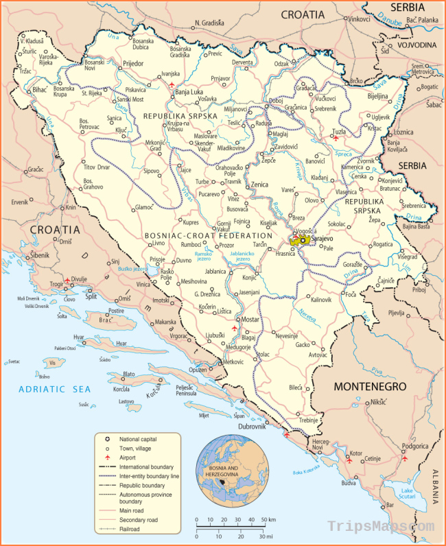 Map of Bosnia