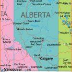 Political Map of Alberta, Canada