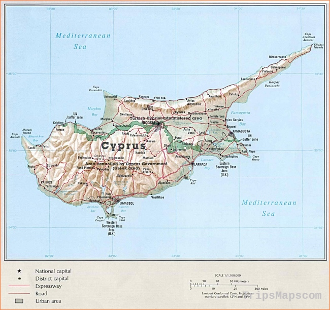 Cyprus Maps | Printable Maps of Cyprus for Download