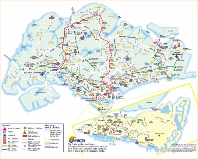 Large Singapore City Maps for Free Download and Print