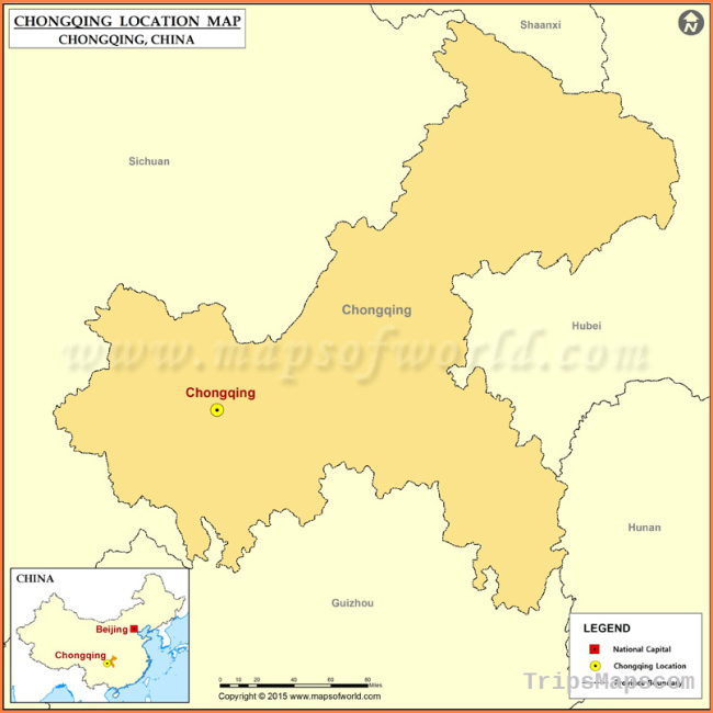 Where is Chongqing Located, Location of Chongqing in China Map