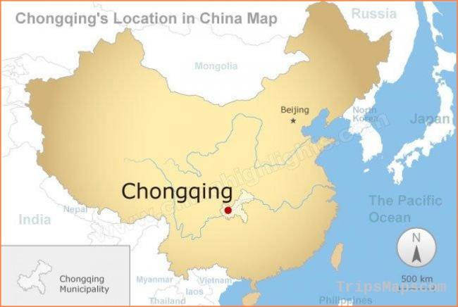 Chongqing china map - Map chongqing china (China)