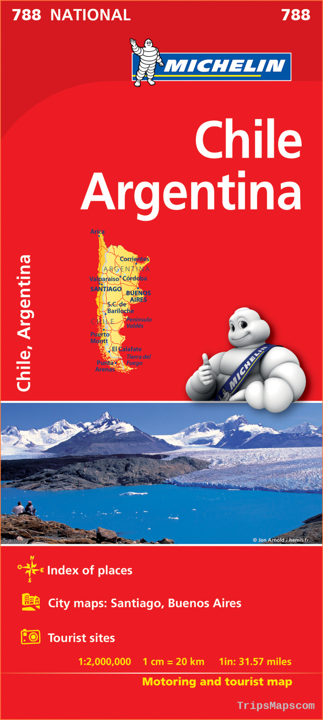Series :: Michelin National Maps :: Chile Argentina