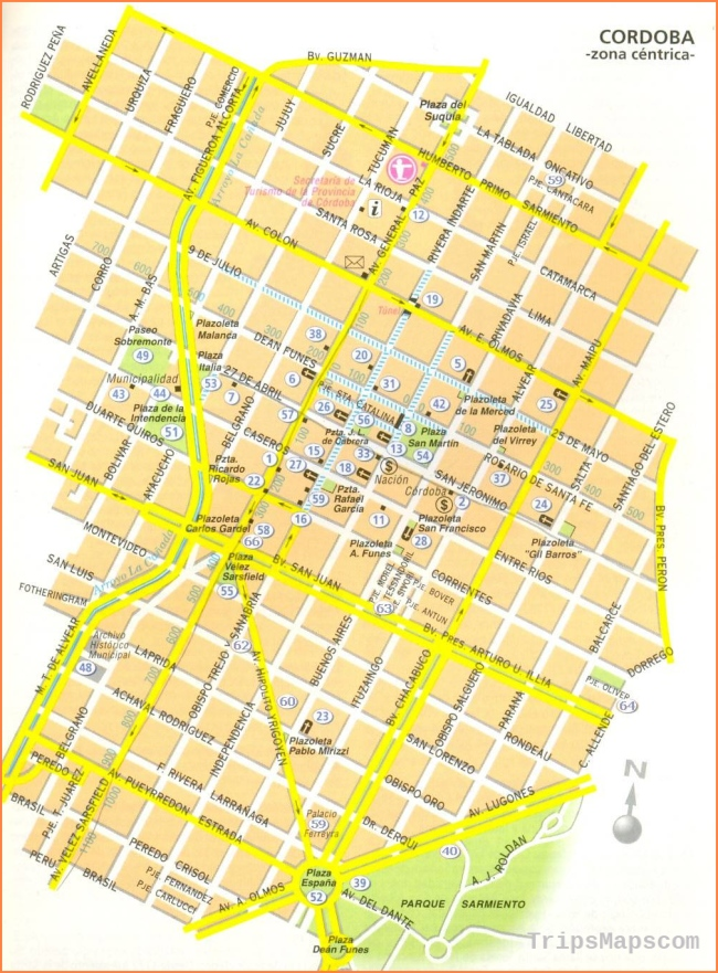 Large Cordoba Maps for Free Download and Print