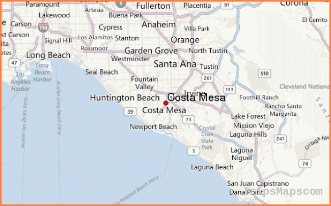 Map Of Costa Mesa Where Is Costa Mesa Costa Mesa Map English